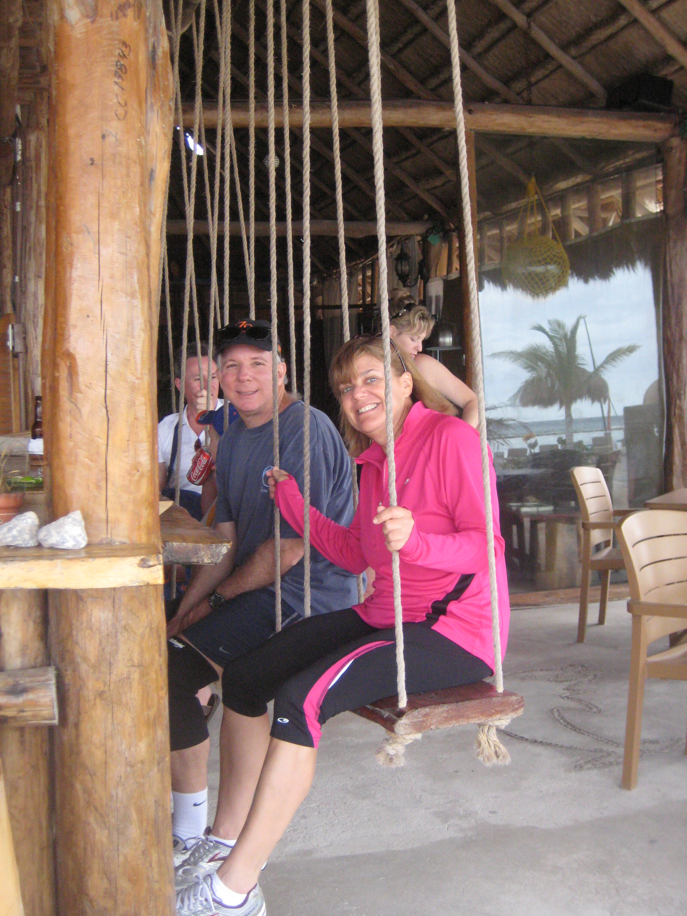 swinging in Costa Maya
